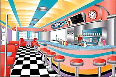 dinner decorations 9 rockin 50 s diner sock hop setter backdrop retro