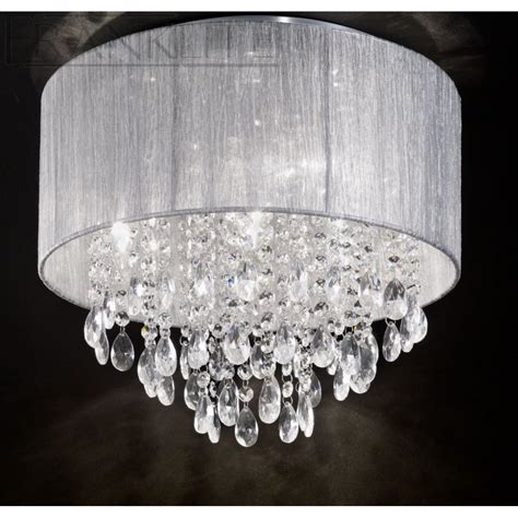Silver Ceiling Lights Franklite Royale Translucent Silver Ceiling Light Fl2281 4