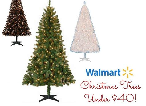walmart christmas trees 6 5 pre lit tree under 40