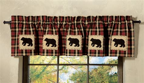 curtains with bears on them concord bear lined valance