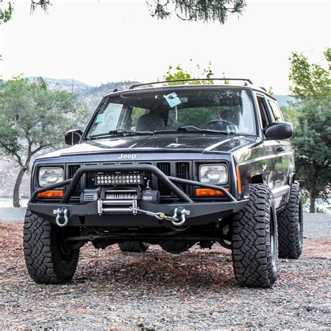 jeep front tuff stuff jeep xj front winch bumper tuff