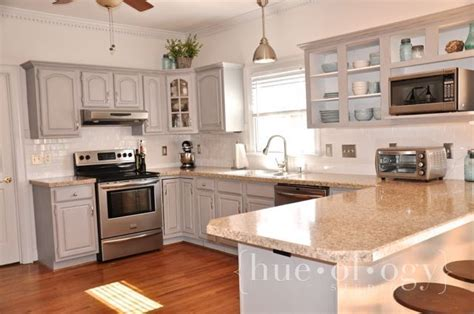 chalk paint grey kitchen cabinets painted kitchen cabinets using grey chalk paint by