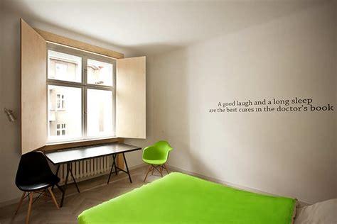 bedroom wall quote interior design ideas polish apt bedroom with quote on wall interior design ideas