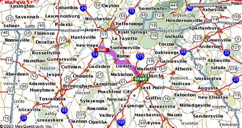 map of atlanta with exits directions from atlanta