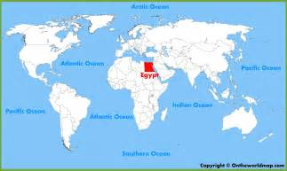 Egypt On World Map by Where Is Egypt Located On The World Map