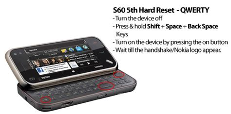 resetting nokia n95 soft reset hard reset for s60 3rd s60th 5th what s