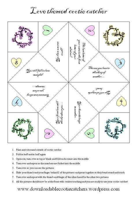 How To Make Cootie Catchers Out Of Paper - downloadable cootie catchers print and enjoy