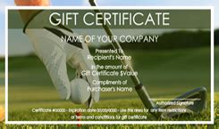 golf gift certificate template golf gift certificate templates easy to use gift