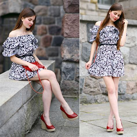 Wedges Loly ariadna majewska floral dress loly in the sky wedges bag floral dress lookbook