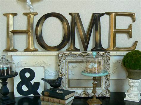 pottery barn style wall letters quot home quot by shabby chic home