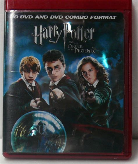 format dvd hd harry potter and the order of the phoenix hd dvd dvd combo