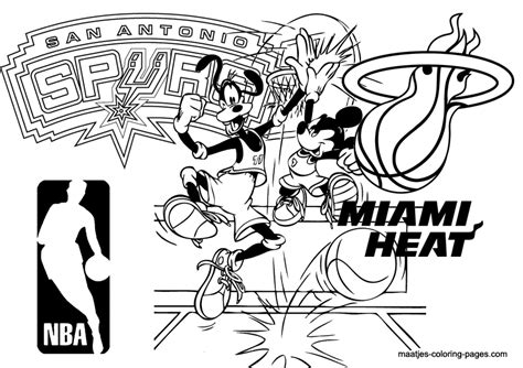 nba coloring pages miami heat maatje coloring page of the week 24 nba san antonio