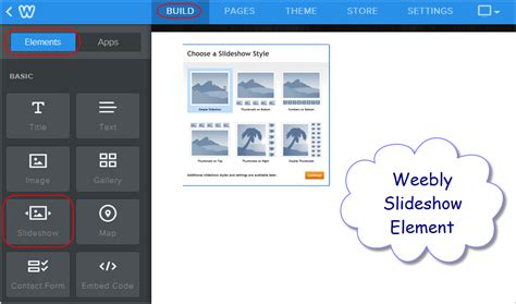 weebly design elements help how to add slideshow in weebly site 187 webnots