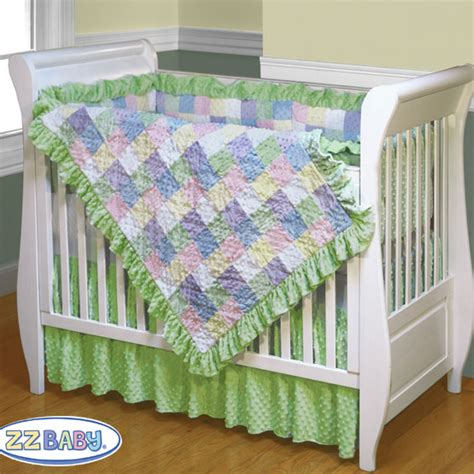 soft baby 4 piece crib quilt set