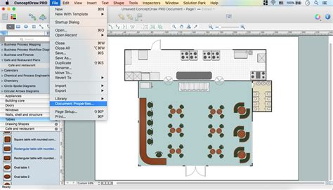 restaurant floor plan software caf 233 floor plan design software professional building