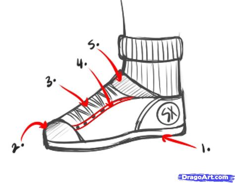 how to draw a shoe step by step fashion pop culture