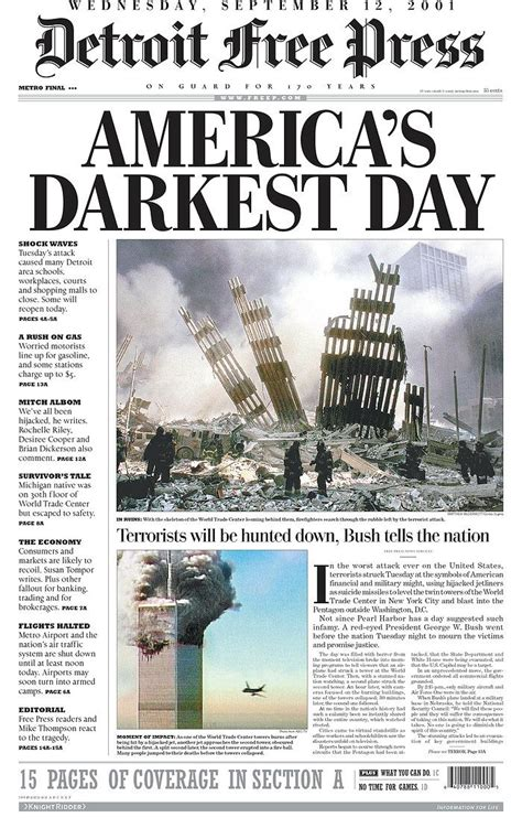 sle of news report 9 11 newspaper covers newspaper front pages from