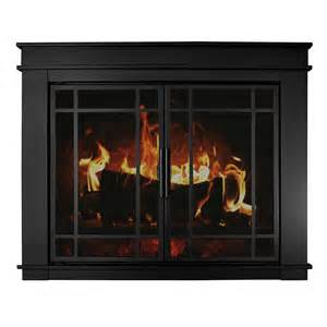 pleasant hearth fillmore large glass fireplace doors fl