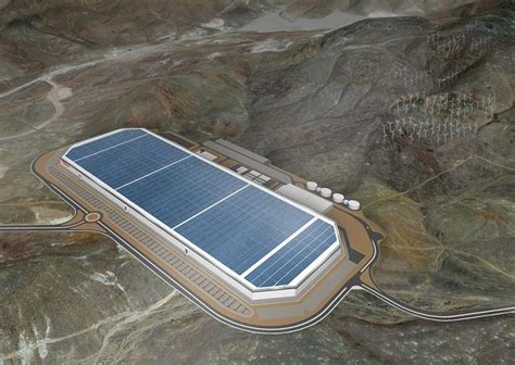 elon musk battery factory tesla shows off the nearly completed gigafactory with new