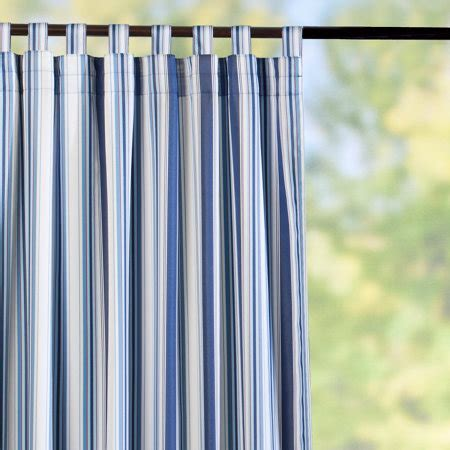nautical stripe curtains tab top semi opaque outdoor curtain panels nautical blue