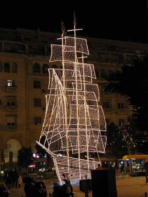 christamas decorations in greece karavaki the boat