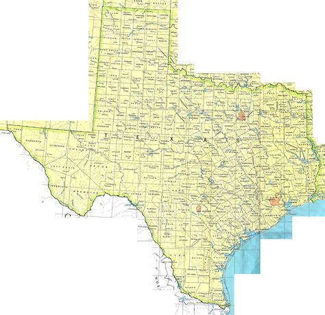 detailed texas map detailed map of texas state the state of texas detailed map vidiani maps of all