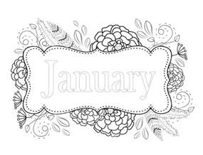 january color free page for january whispers in nature