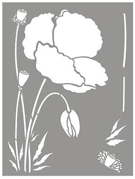 printable poppy stencils elements of the poppy stencil doodle me crazy