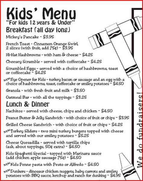 kid friendly dinner menu hobee s cbell ca added to kid friendly