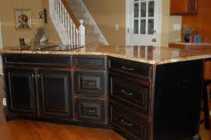 Distressed Kitchen Cabinet by I Love The Look Of Distressed Black Kitchen Cabinets