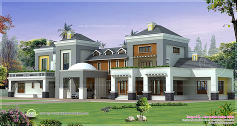Luxury Home Plans With Photos Luxury House Plan With Photo Kerala Home Design And Floor Plans