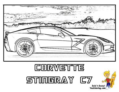 coloring pages of corvette cars porsche coloring pages and coloring on pinterest