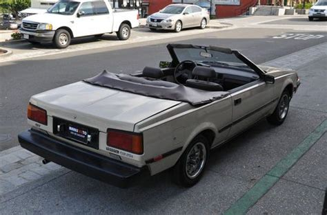 how cars engines work 1982 toyota celica on board diagnostic system find used 1982 toyota celica gt convertible 2 door 2 4l in rancho cordova california united states