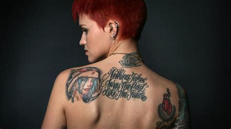 what does ruby rose neck tattoo say tatts go from edgy to mainstream herald sun