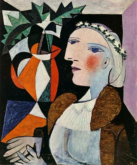 picasso paintings in order pablo picasso portrait with wreath 1937