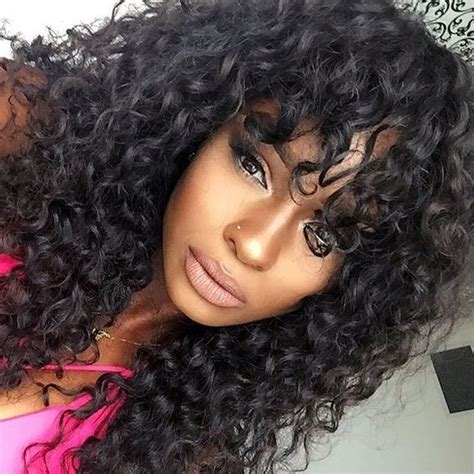 curly weave bang 7 best deep curl queen hair images on pinterest curls