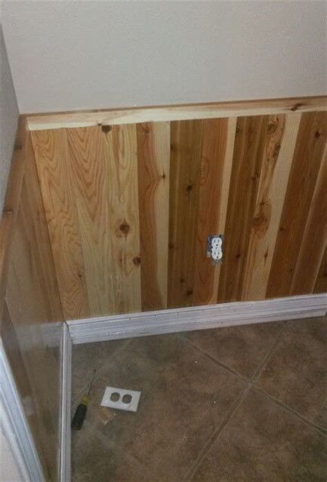Cedar Wainscoting by Mudroom Wainscoting Out Of Cedar Planks