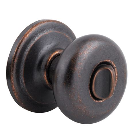 Bronze Door Knobs Shop Kwikset Signature Juno Rustic Bronze Turn Lock