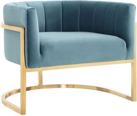 magnolia sea blue  gold chair  tov coleman furniture