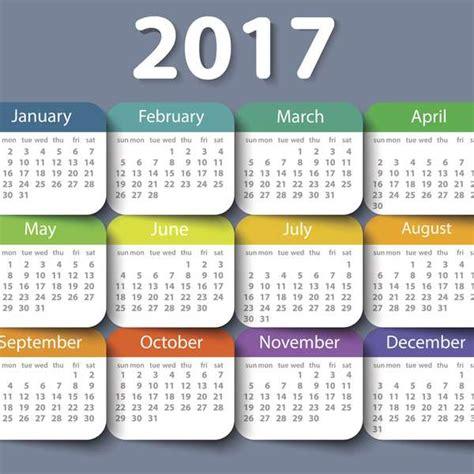 Calendario 2017 Dias Festivos Oficiales Dias Feriados 2017 Calendario Dias De Descanso No