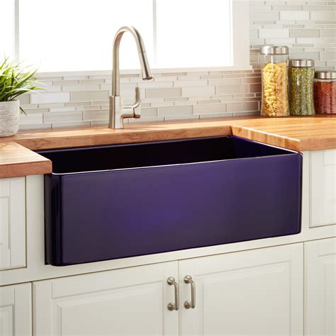 30 fireclay farmhouse sink 30 quot reinhard fireclay farmhouse sink sapphire blue kitchen