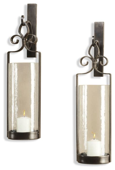 Scroll Candle Wall Sconce pair lisbon iron scroll italian bronze wall sconce