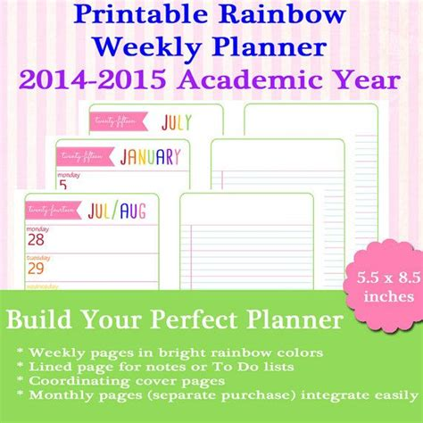new half size printable planners for 2015 17 best images about organization on pinterest student