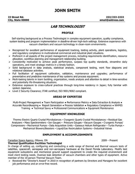 Resume Format Lab Technician Click Here To This Lab Technologist Resume Template Http Www Resumetemplates101