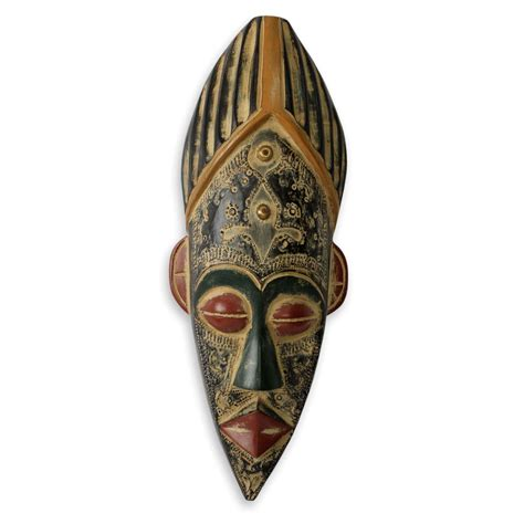 Handcrafted Masks - authentic wood mask original handcrafted honesty