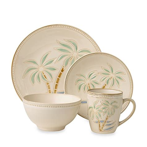 bed bath and beyond dinnerware everyday palm 16 piece dinnerware set bed bath beyond