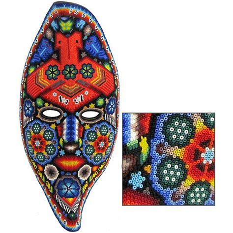 bead mask huichol bead collection huichol moon mask hmsk135