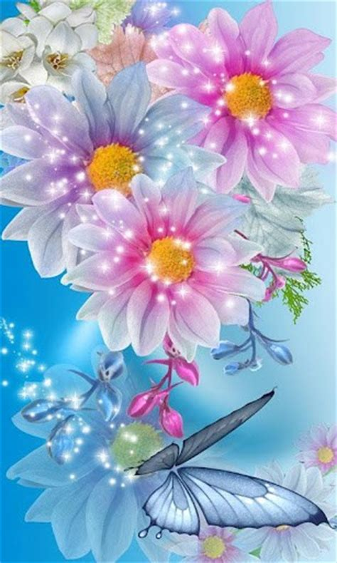 glitter wallpapers of flowers download glitter flowers 2 live wallpap for android appszoom