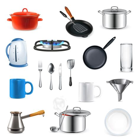 designer kitchen utensils kitchen utensils design elements vector set 01 vector