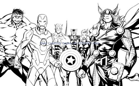 Avengers Group Coloring Pages | gambar thrilling adventure superheroes avengers 20